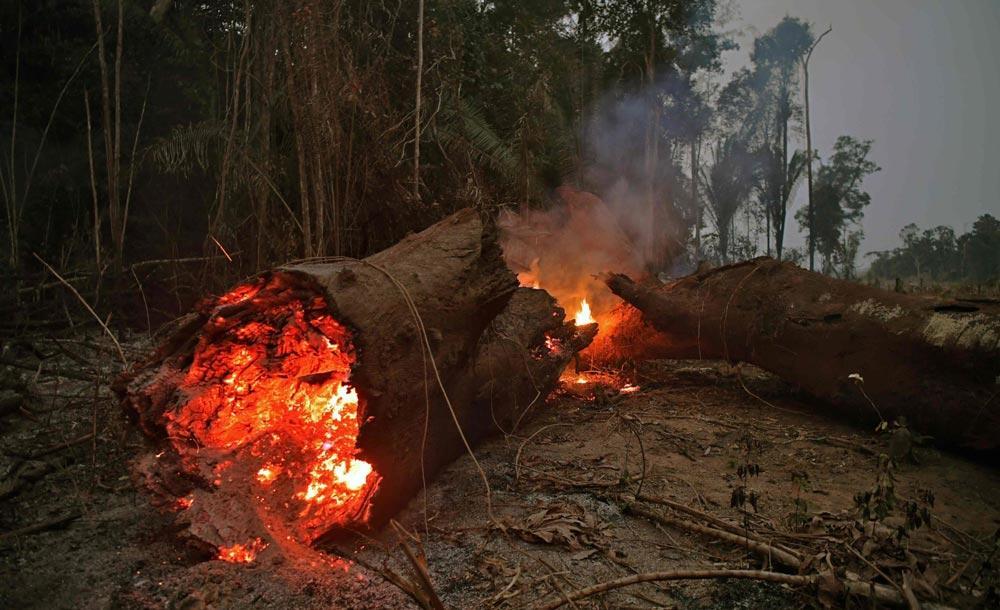 Segundo Bolsonaro, fogo na Amazônia é resultado de queima por índios e caboclos