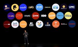Uma dúzia de empresas, incluindo Deezer e Spotify, se uniram contra a Apple, que acusam de abusar de sua posição dominante em sua plataforma de download de aplicativos móveis (Michael Short/AFP)