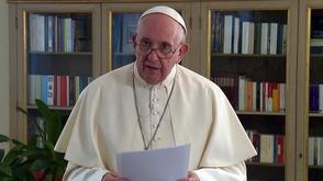 """Francisco denunciou as mazelas de uma """"humanidade violada"""" por guerras e pelo desrespeito à vida humana e ao meio ambiente (Vatican Media)"""