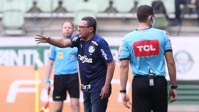 Treinador lamenta vacilos do Palmeiras em casa