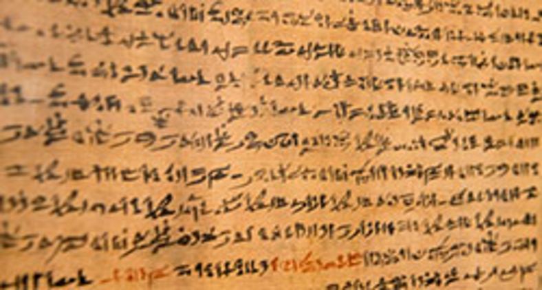 Papiro egípcio no museu do Cairo (Marc Dozier/hemis.fr/AFP)