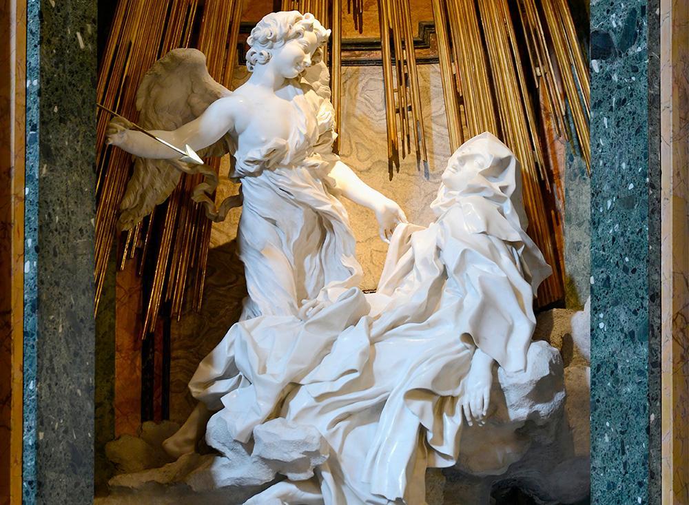 O 'Êxtase de Santa Teresa' ou a 'Transverberação de Santa Teresa' é uma escultura de Giancarlo Bernini