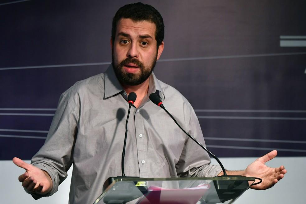 O candidato do PSOL Guilherme Boulos
