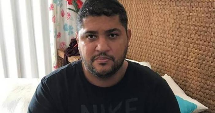 André de Oliveira Macedo, conhecido como André do Rap, líder do PCC, ao ser detido em Angra dos Reis (RJ).