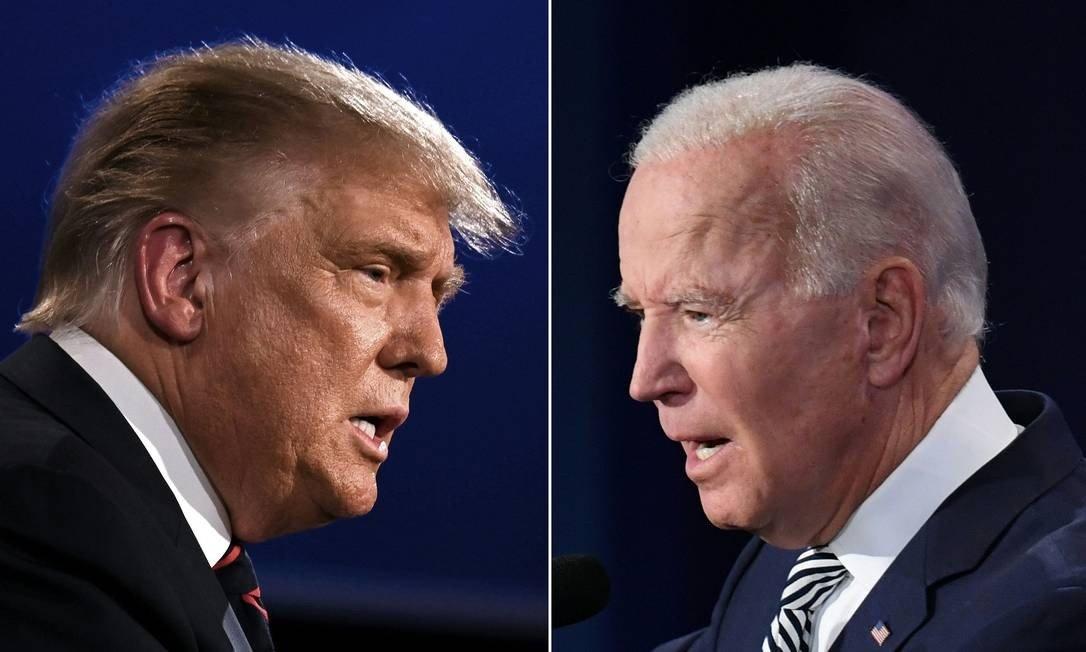 O presidente americano, Donald Trump, e o ex-vice Joe Biden concorrem à Presidência dos EUA