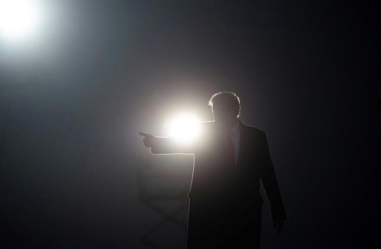 O presidente Donald Trump durante discurso em Martinsburg, Pensilvânia, 26 de outubro de 2020