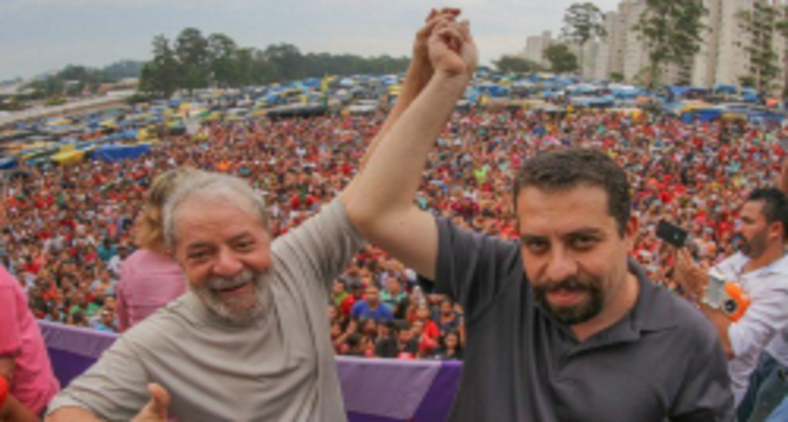 Lula (PT) e Guilherme Boulos (PSOL) (Ricardo Stuckert)