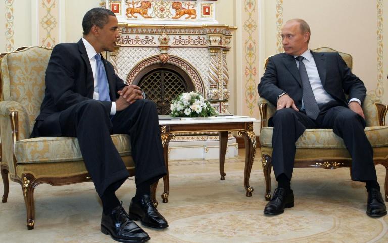 Na época presidente americano, Barack Obama se reuniu com o então primeiro-ministro russo Vladimir Putin em Moscou em julho de 2009