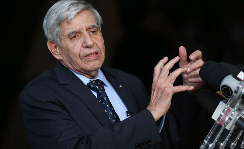 O ministro do Gabinete de Segurança Institucional Augusto Heleno esteve na reunião