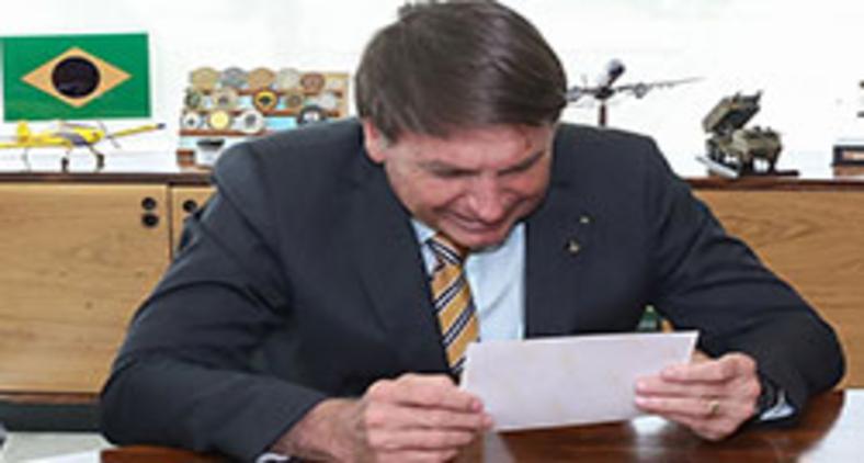 Presidente Jair Bolsonaro durante homenagens e Audiência com Deputado Vitor Hugo (PSL-GO) em 10 de novembro (Marcos Corrêa/PR)
