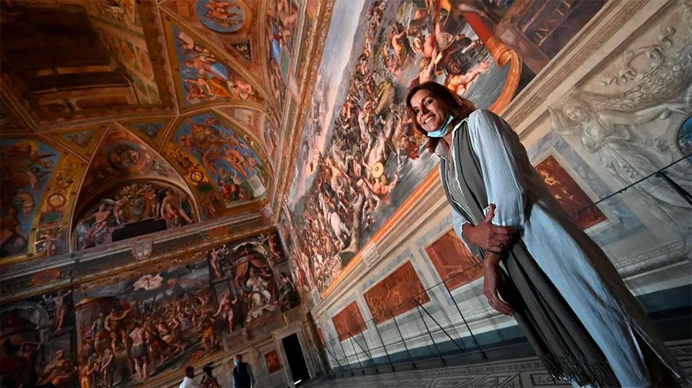 A diretora dos Museus Vaticanos, Barbara Jatta,