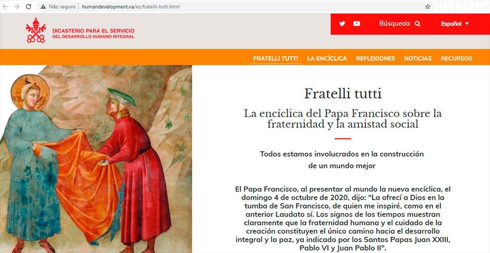 Site está disponível em italiano, inglês e espanhol, mas inclui vários recursos em francês, português, árabe ou chinês