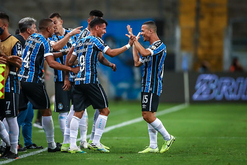 Rodrigues e Ferreira marcaram os gols da partida (Lucas Uebel/GREMIO FBPA)