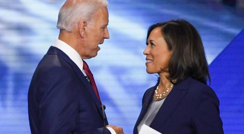 Joe Biden, eleito presidente dos EUA, e Kamala-Harris, a primeira vice-presidente negra e mulher da história do país