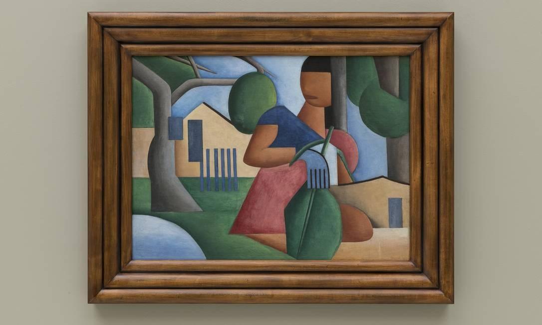 A tela 'Caipirinha', pintada por Tarsila do Amaral em 1923
