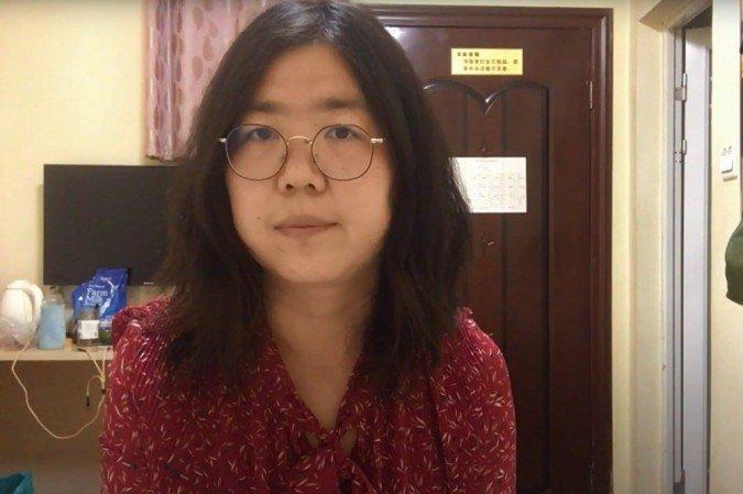 A ex-advogada e jornalista chinesa Zhang Zhan