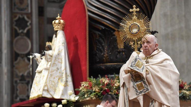 Papa Francisco no 'Te Deum' de 2019