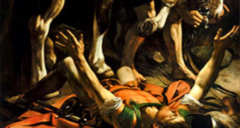 Fragmento do quadro 'Conversão a caminho de Damasco' de Caravaggio (Wikimedia/Santa Maria del Popolo)