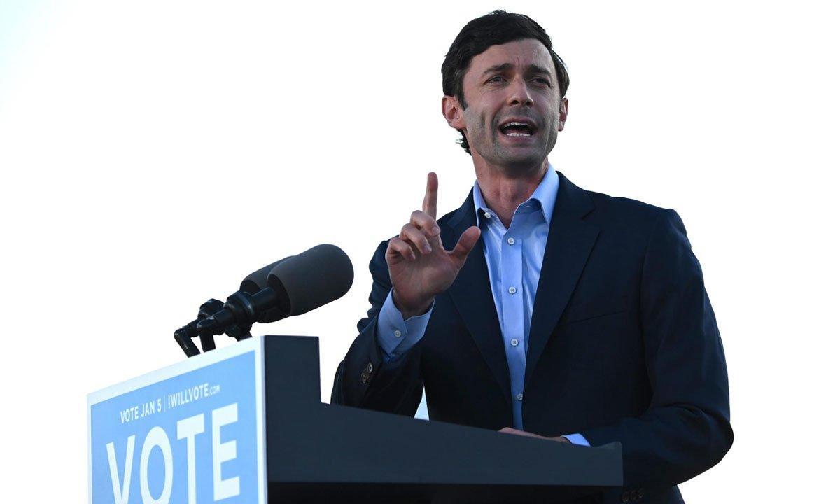 O democrata Jon Ossof, eleito senador pela Geórgia