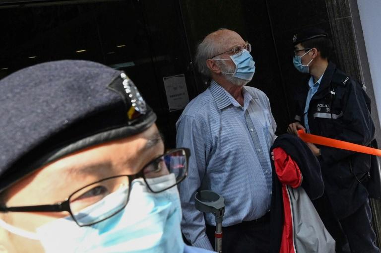 O advogado americano John Clancey no momento de sua prisão em Hong Kong