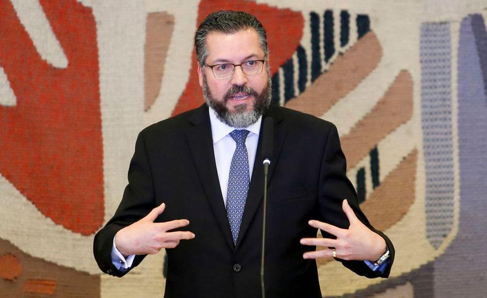 O chanceler Ernesto Araújo tem discurso contra o chamado 'globalismo' em um mundo cada vez mais interdependente