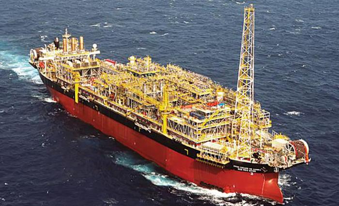 Plataforma da Petrobras: em 2020, a empresa atingiu seu maior nível de produção anual de petróleo e gás natural