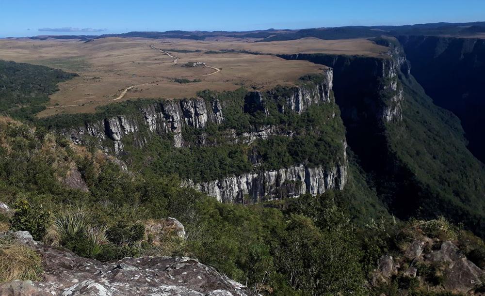 Cânion Fortaleza, no Parque Nacional da Serra Geral, um dos principais atrativos da região