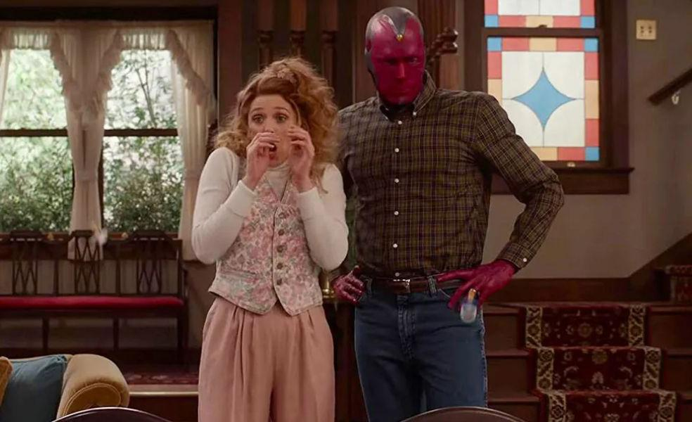 Elizabeth Olsen e Paul Bettany como Wanda e Vision