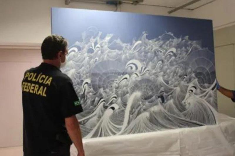 Obra da artista Sandra Cinto foi apreendida durante operação da Polícia Federal dentro da Lava Jato