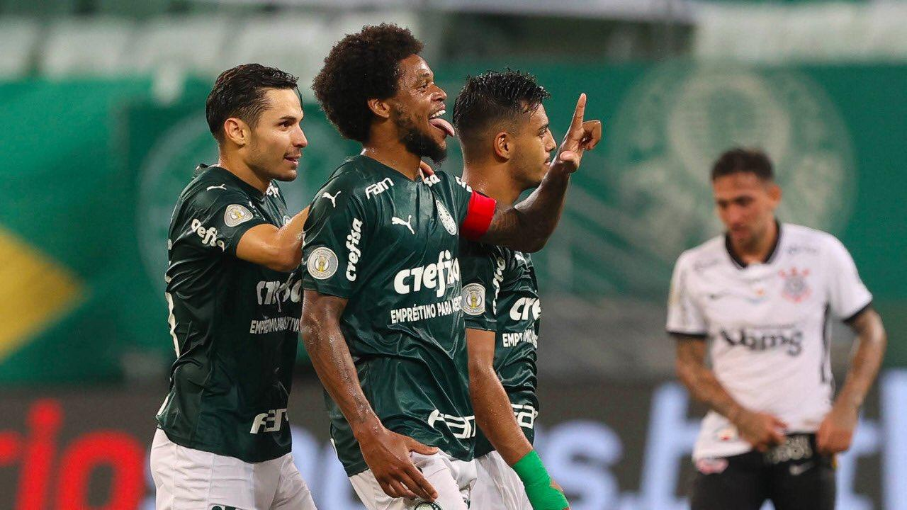 Os gols foram de Raphael Veiga e Luiz Adriano no Allianz Parque