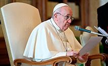 Francisco na oração do Angelus desta quarta-feira (20) (Vatican Media)