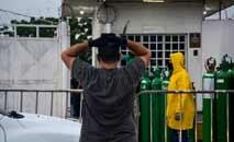 O desabastecimento de oxigênio no Amazonas já causou várias vítimas (Márcio James/AFP)