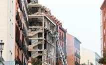 Edifício no centro de Madri destruído por explosão assusta moradores (Gabriel Bouys/AFP)