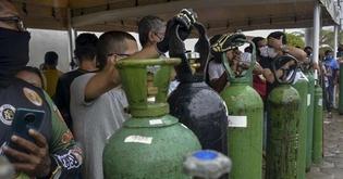 Manaus ainda apresenta colapso no sistema de Saúde (AFP)