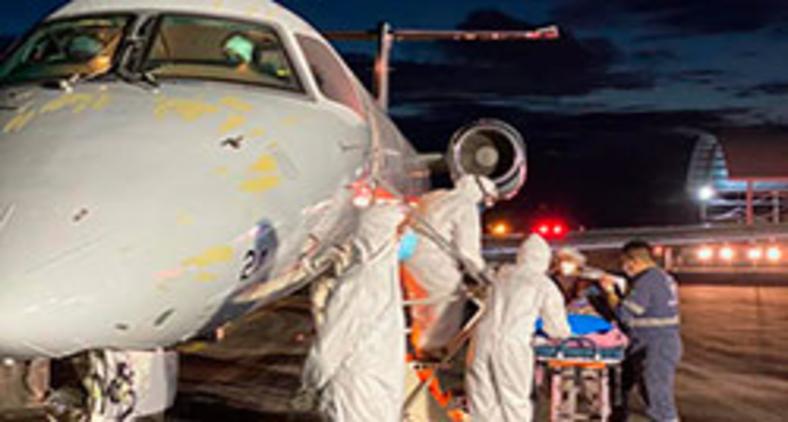 Duas aeronaves C-99 da FAB decolaram de Manaus/AM em 21 de janeiro transportando 36 pacientes para Vitória/ES (FAB)