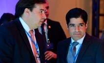 Rodrigo Maia e ACM Neto, do DEM, divergem sobre os candidatos à presidência da Câmara (Agência Cãmara)