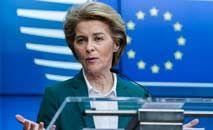 A presidente da Comissão Europeia, Ursula von der Leyen, quer garantir os imunizantes para os europeus (Kenzo Tribouillard/AFP)