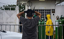 No dia 14, os hospitais de Manaus entraram em colapso (AFP)