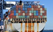 Cargueiro no porto de Sydney, em 4 de junho de 2021 (Saeed Khan/AFP)
