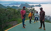 O grupo de rap Brô MC's, durante sessão de fotos no Rio de Janeiro (Carl de Souza/AFP)