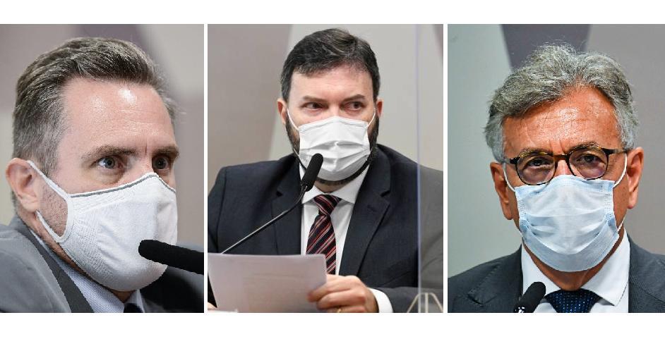 O cabo da PM-MG Luiz Paulo Dominghetti, o coronel Marcelo Blanco da Costa e coronel Helcio Bruno de Almeida