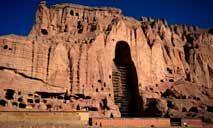 Local em que ficavam as estátuas de Buda em Bamiyan, destruídas em 2001 pelo Talibã (Wakil Kohsar/AFP)