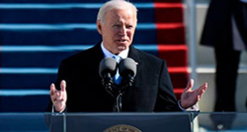 As principais bolsas mundiais fecharam em alta nesta quarta-feira com a posse de Joe Biden como presidente dos Estados Unidos, impulsionadas em parte pelas medidas de estímulos propostas pelo novo presidente para enfrentar a pandemia (ANDREW CABALLERO-REYNOLDS/AFP)