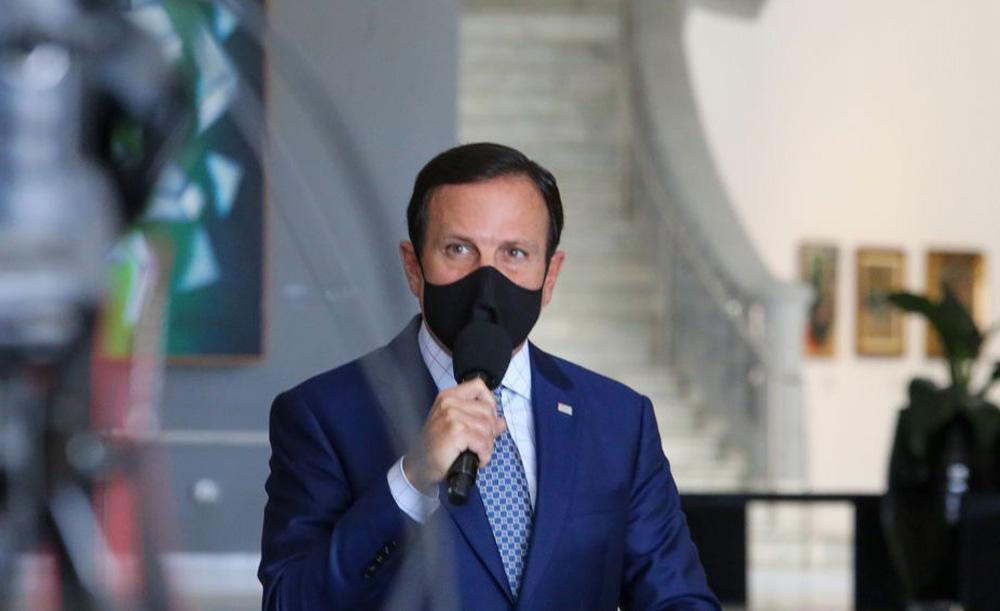 O governador João Doria foi um dos derrotados com a divisão de seu partido