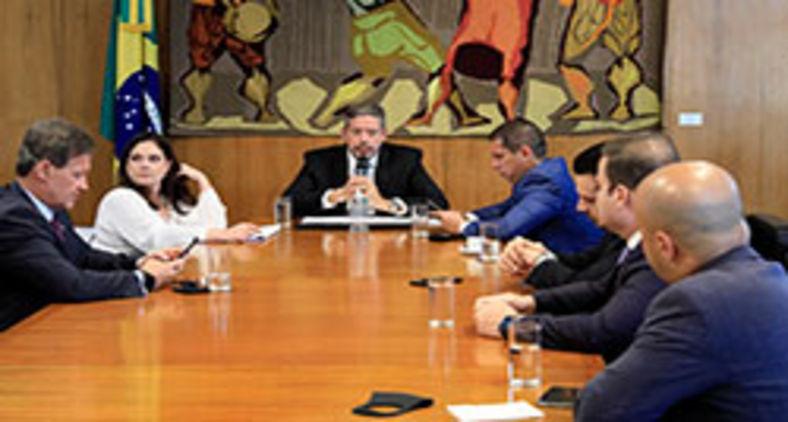 Reunião de líderes com o presidente da Câmara, deputado Arthur Lira, representante do bolsonarismo (Luis Macedo/Câmara dos Deputados)