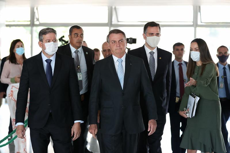 Bolsonaro se reuniu com Lira e Pacheco nesta quarta-feira