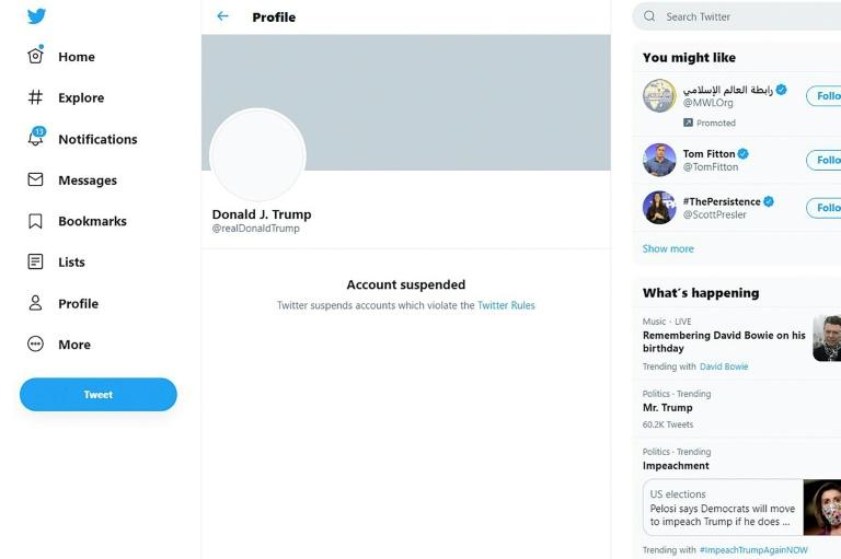 O ex-presidente Donald Trump, que tinha mais de 80 milhões de seguidores no Twitter quando foi banido da plataforma por incitação à violência, não será reintegrado mesmo que concorra novamente ao cargo