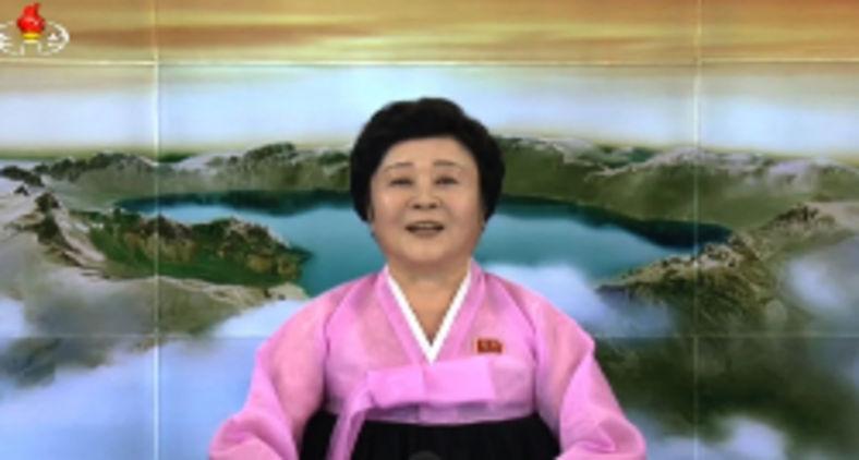A apresentadora favorita da Coreia do Norte Ri Chun-hee (AFP)