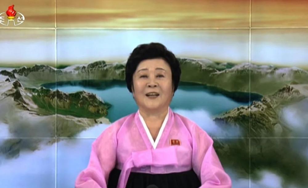 A apresentadora favorita da Coreia do Norte Ri Chun-hee