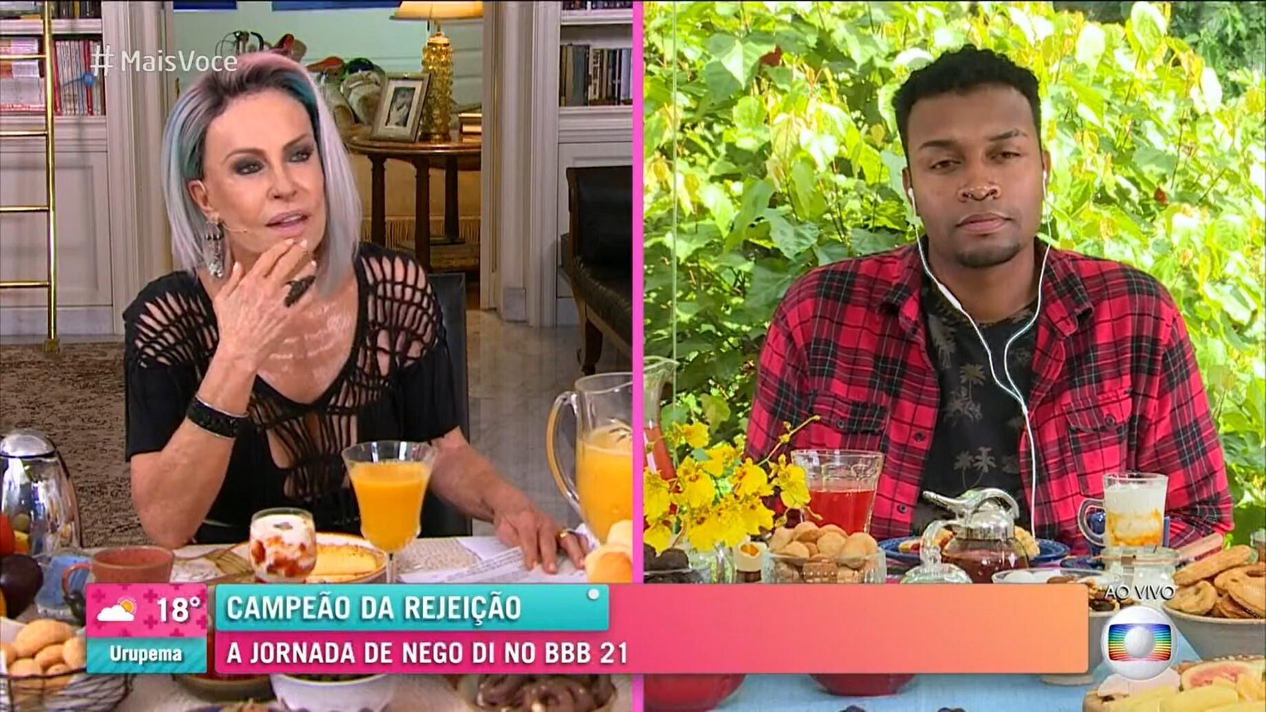 Comediante participou do programa da Ana Maria Braga